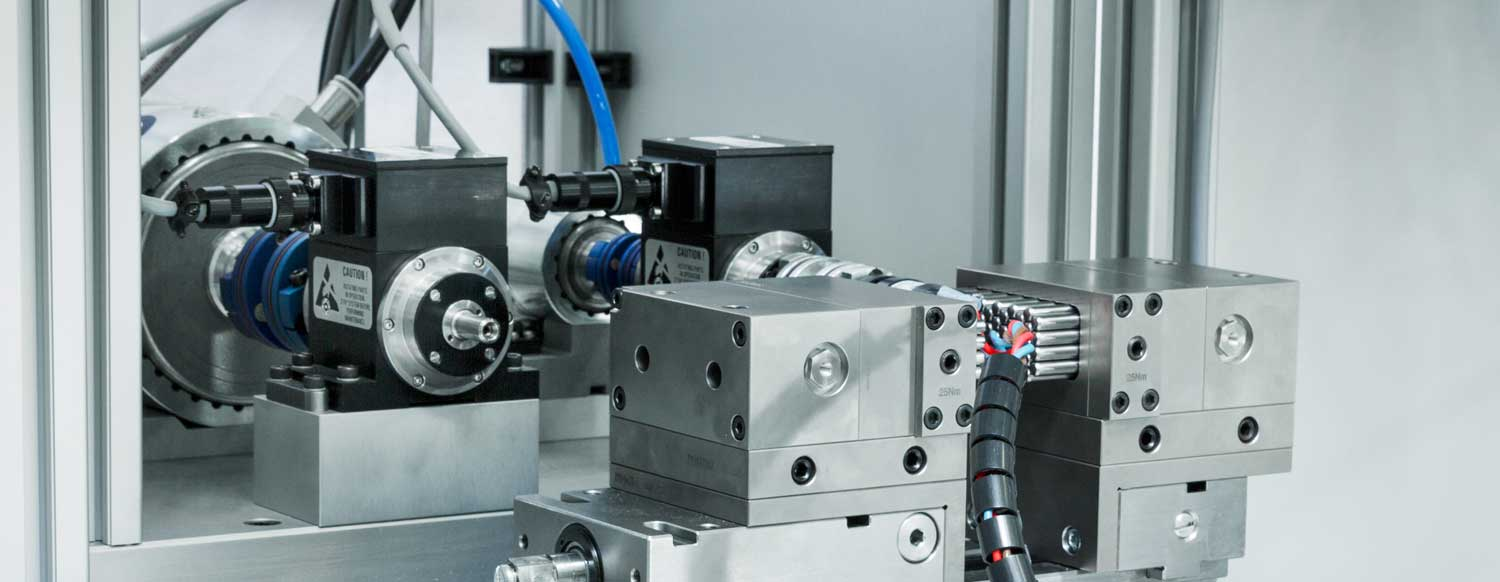 Custom Motor Test System Including 2 Parallel Testing Lines with 0.3 N-M and 6 N-M Nominal Ranges